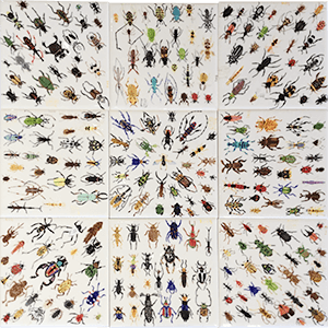 insect tile mosaic