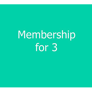 3 Person Family Membership - new